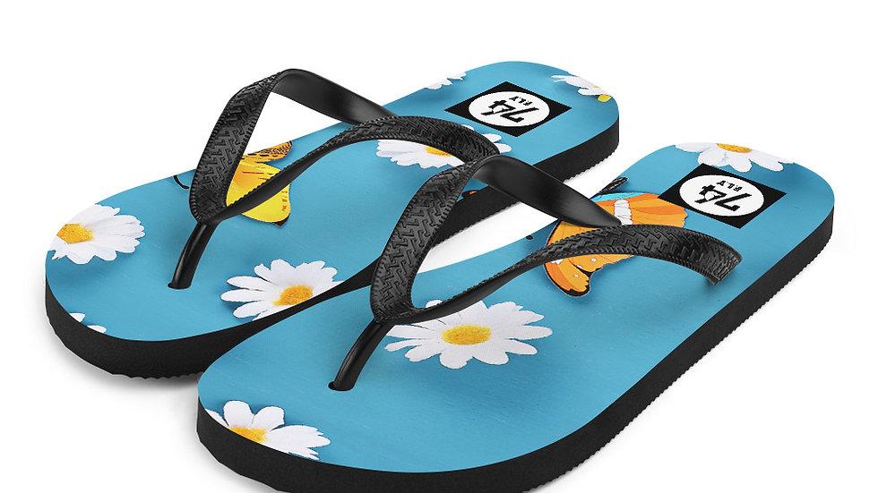 '74 Store Daisy & Butterfly Flip-Flops