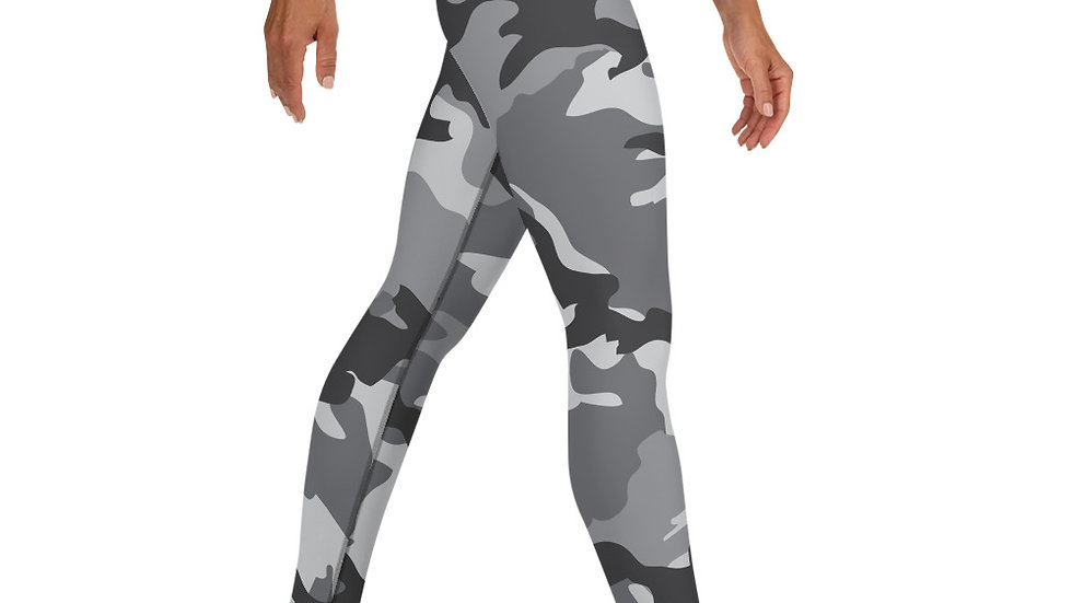 Macey Grey Camouflage Leggings