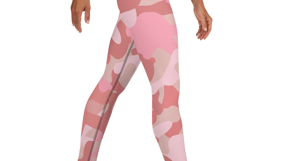 50 Shades of Pink Camouflage Leggings
