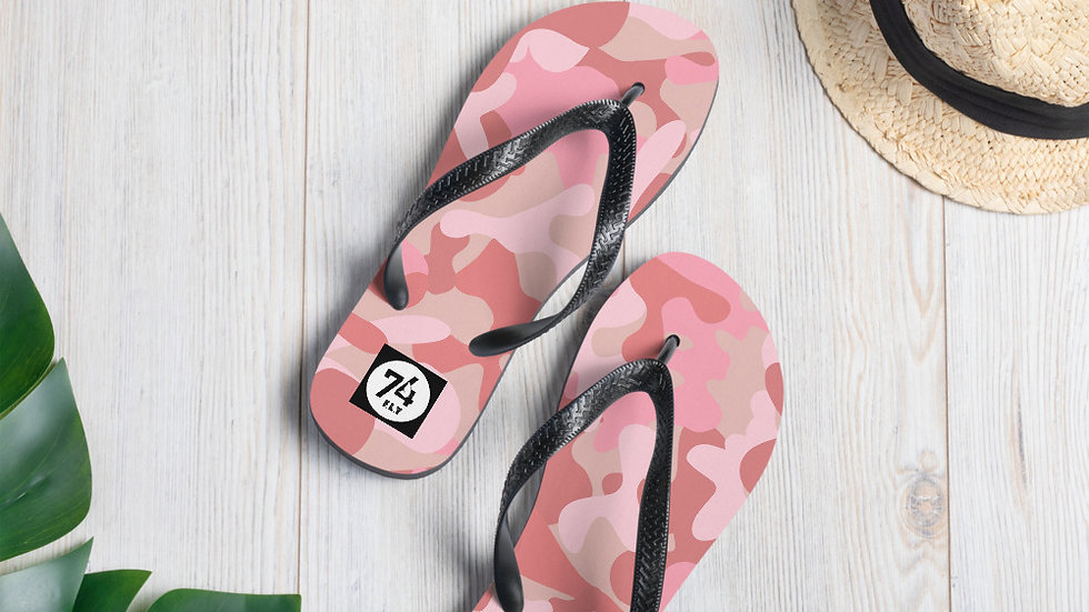 The '74 Store Pink Camouflage Flip-Flops