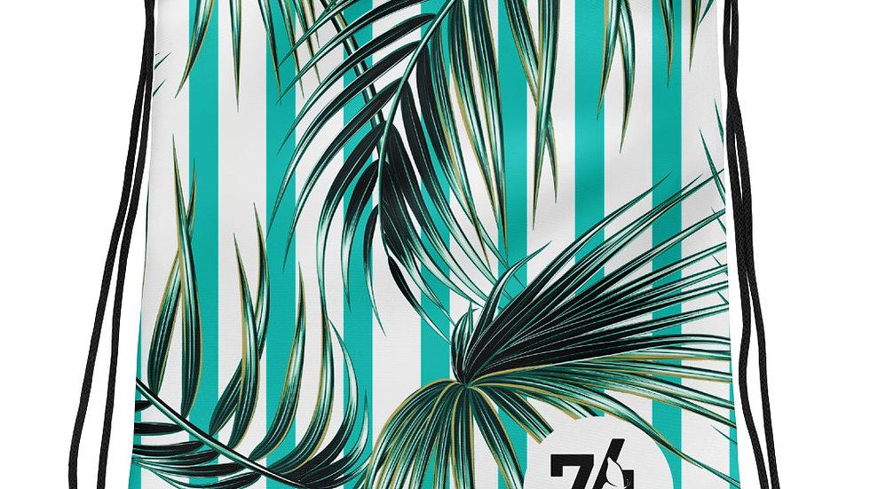 Tropical Stripe Drawstring bag