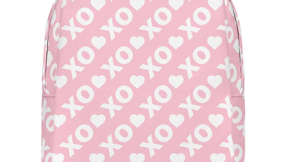 Pink XO Hearts Minimalist Backpack