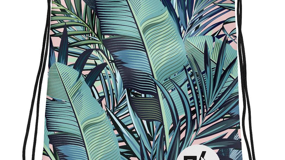 The '74 Store Pink & Green Tropical Drawstring bag