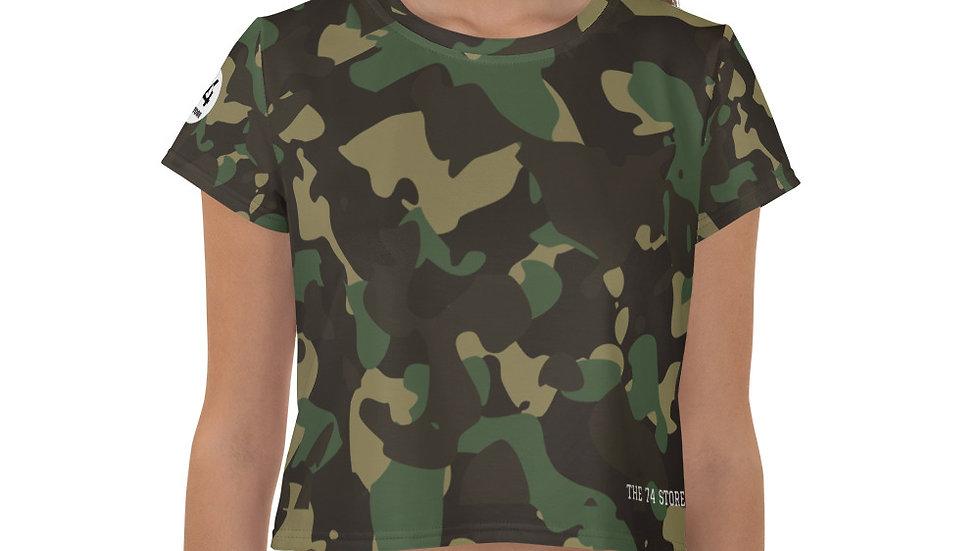 Military Warrior Camouflage Crop Tee