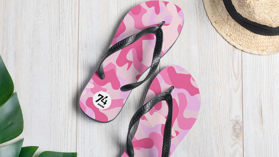 74 Store Pink Camouflage Flip-Flops