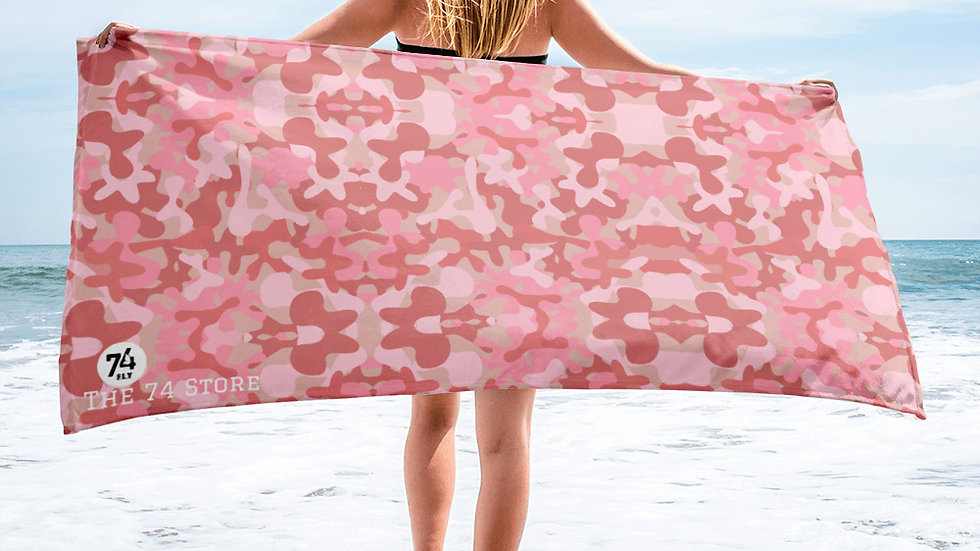 Pink Camouflage Towel