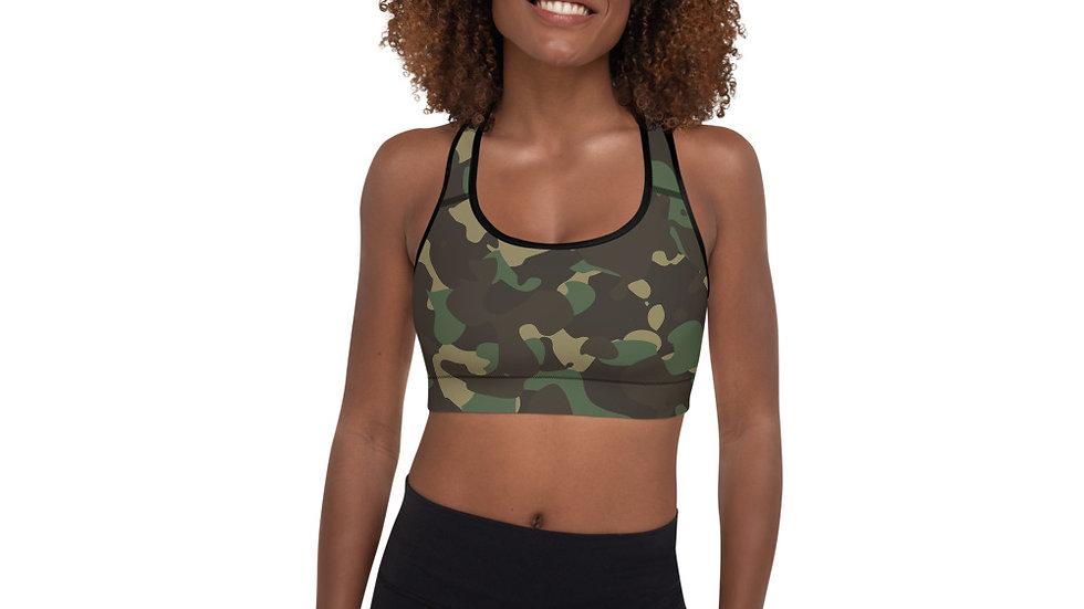 Military Warrior Camouflage Sports Bra