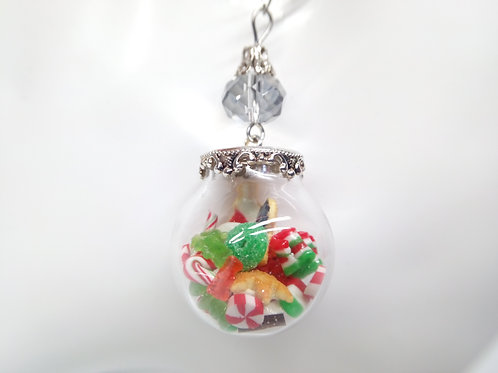 Christmas Candy Sphere Necklace