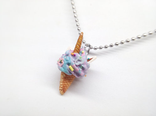 Unicorn Soft Ice Cream Necklace