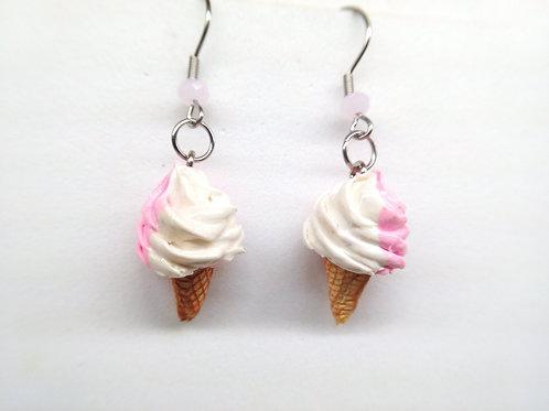 Pink Soft Ice Cream Earrings