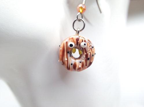 Pumpkin Spice Goofy Donut Earrings