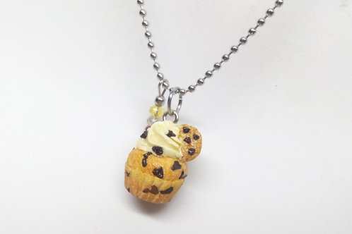 Chocolate Chip Cupcake Necklace