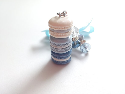 Blue Ice Macaron Stack Charm