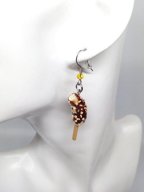 Chocolate Banana Dangle Earrings