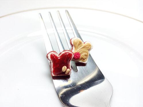 Raspberry Jam & Peanut Butter Studs