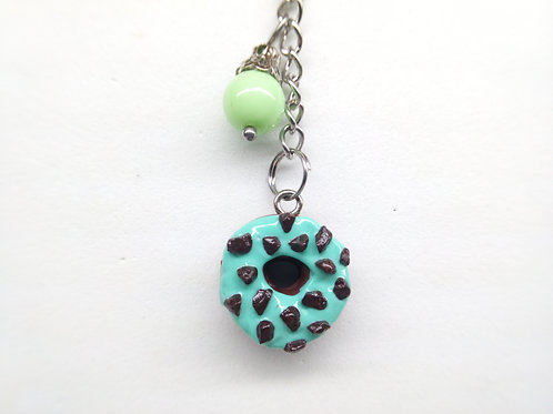 Mint & Chocolate Donut Key Chain