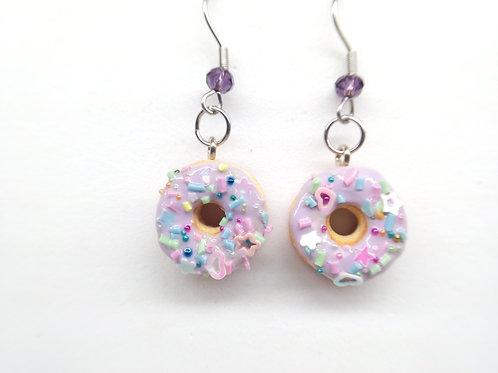 Lilacfetti Donut Dangle Earrings