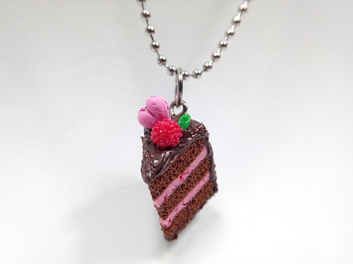 Valentine's Raspberry and Chocolate Cake Necklace