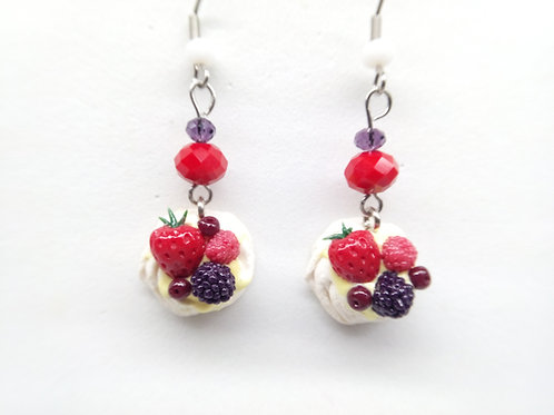 Summer Pavlova Dangle Earrings