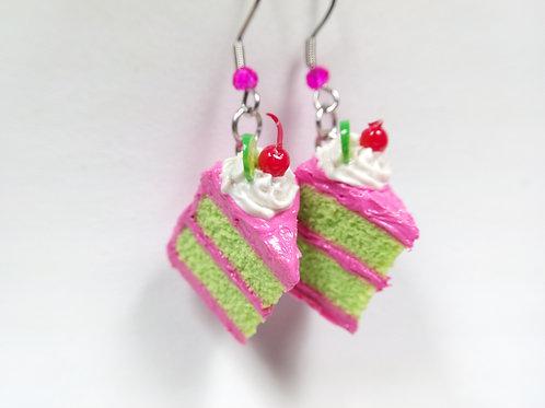 Cherry Limeade Cake Earrings
