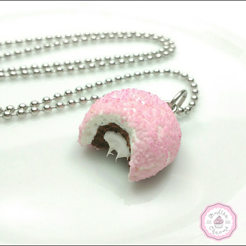 Pink Ball Cakes Necklace