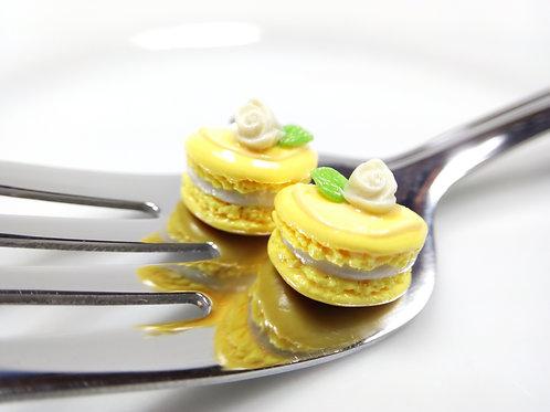 Spring Yellow Macaron Stud Earrings