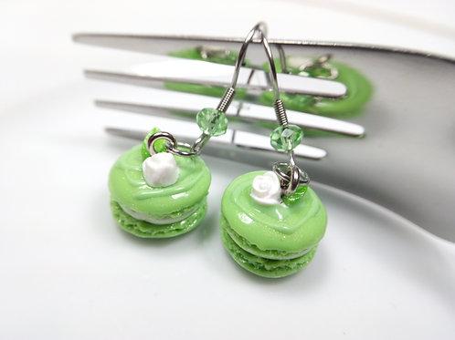 Spring Green Macaron Earrings