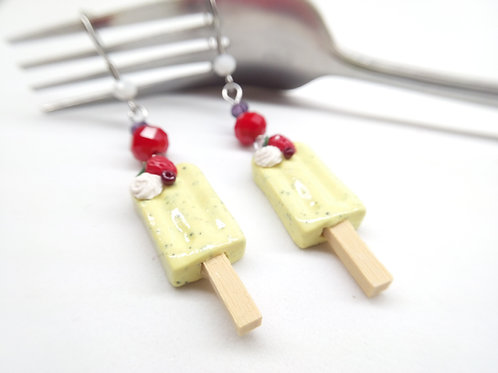 Vanilla Bean Popsicle Dangle Earrings