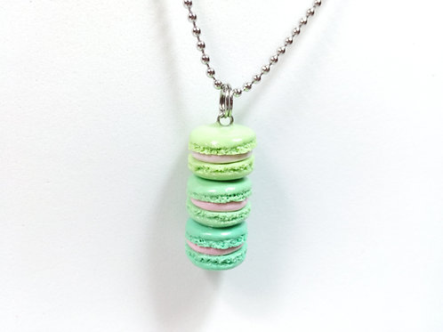 Green Ombré Macaron Stack Necklace