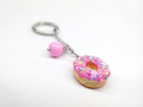 Pinkfetti Donut Key Chain