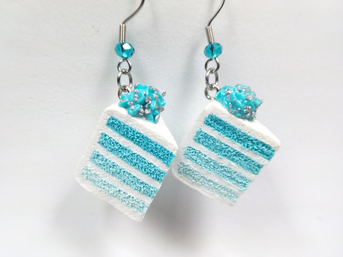 Blue Ombre Cake Earrings