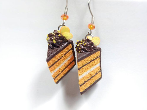 Orange & Chocolate Cake Earrings