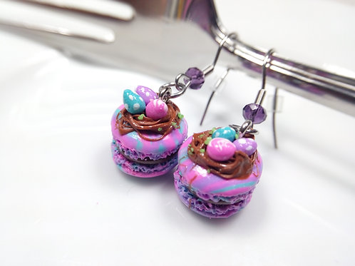 Easter Macaron Earrings