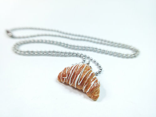 White Croissant Necklace