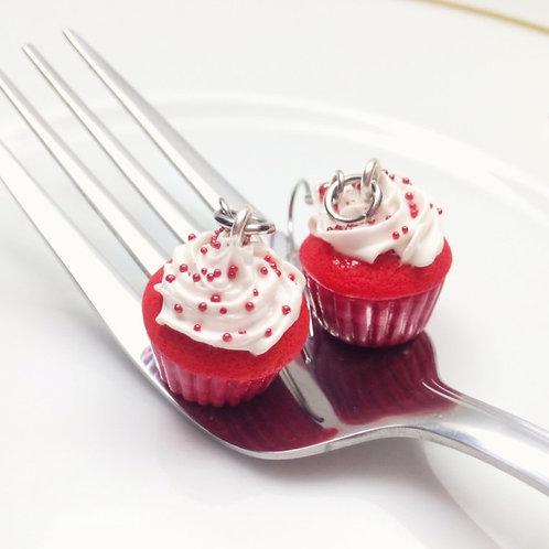 Red Velvet Cupcake Earrings