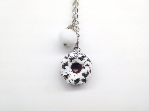 Cookies and Cream Donut Key Chain