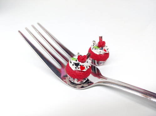 Valentine's Red Velvet Cupcake Charm