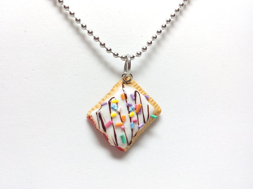 Strawberry Toaster Pastry Necklace