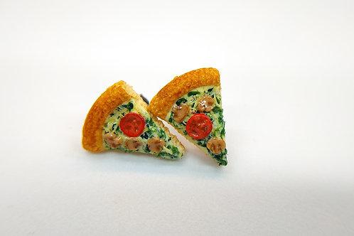 Vegetarian Pizza Stud Earrings