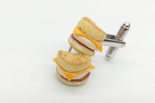 Breakfast Muffin Cufflinks