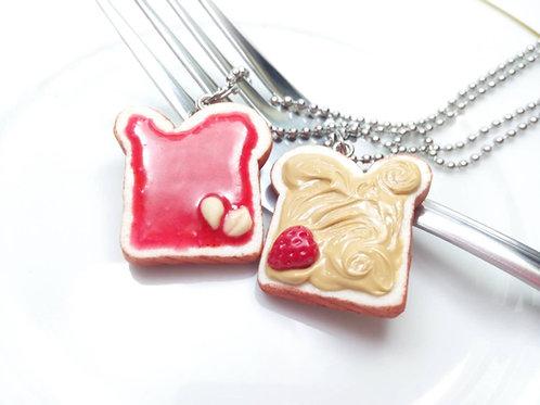Peanut Butter & Strawberry Jelly Necklaces