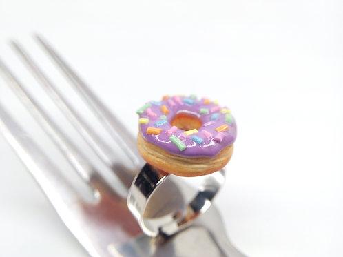 Purple Sprinkle Donut Ring