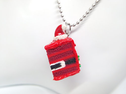 Santa Cake Necklace