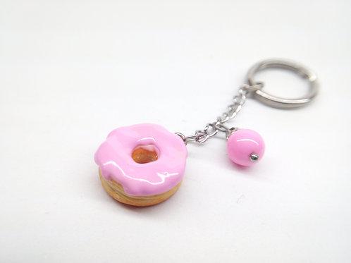 Pink Donut Key Chain