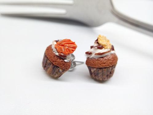 Pumpkin Spice Cupcake Studs
