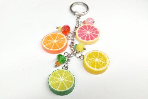 Citrus Fruit Keyring