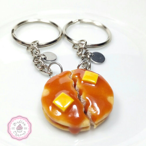 Pancake Best Friend Keychains
