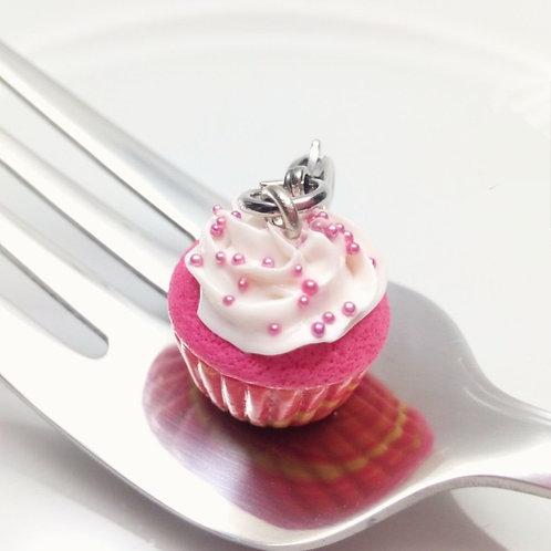 Pink Velvet Cupcake Charm