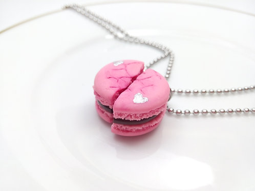 Bff Pink Macaron Necklaces
