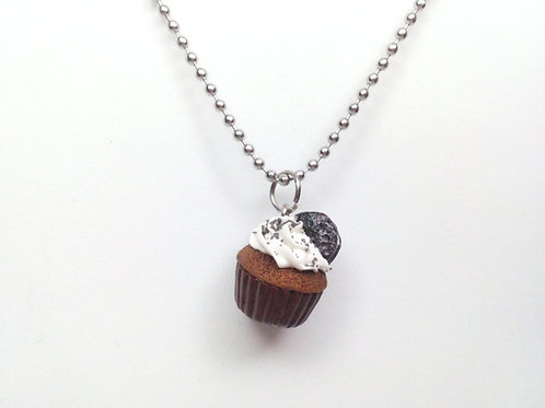 Cookies and Cream Cupcake Necklace
